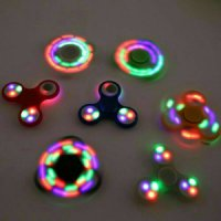 Fidget Hand Spinner Tombol ON OFF 3 Lampu Led Nyala - Mainan Jari