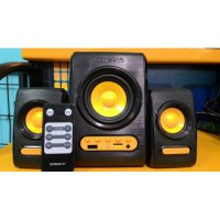 Referensi Speaker Aktif SONIC GEAR [ QUATRO V ] - Speaker + FM Radio, USB & Micro SD + Remote