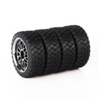 [globalbuy] 4Pcs/Set 1:10 RC On-Road Drift Car HPI Rubber Tires Wheel Rim Hub Remote Contr/2409556
