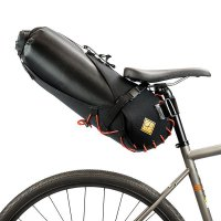 Tas Touring Anti Air Restrap Saddle Bag + Dry Bag Made in UK Orange L