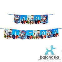 Banner flag Happy Birthday Karakter Lilo and stitch