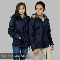 Jaket Parka Couple Sepasang Navy