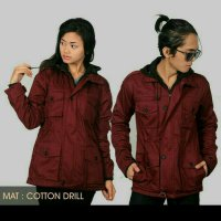 Jaket Parka Couple Sepasang Marron