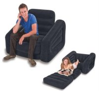Sofa Relaxsasi One Person Pull Out Chair Bed - INTEX 68
