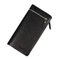 Men Zipper Leather Card Cash Receipt Holder Organizer Bifold Wallet Long Purse GRATIS ONGKOS KIRIM