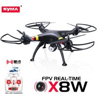 SYMA X8W Quadcopter Drone with WIFI Camera 2.4G 6 Axis - Support Action Cam Gopro Yi Cam - Hitam