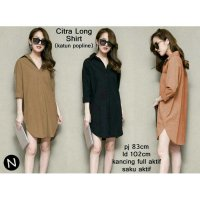 CITRA LONG SHIRT YAN BAHAN KATUN POPLINE FIT TO L BESAR