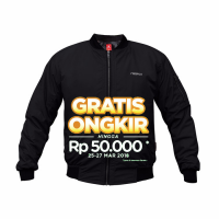Bomber Redfox Black / Jaket Motor Waterproof & Windproo