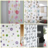 Tirai Kamar Mandi Shower Curtain 180x200 cm Motif Anti Air Pintu Magic SJ0026