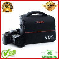 Tas Selempang Kamera DSLR EOS for Canon Nikon Many Slot Black