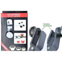 Fish Eye Universal Clip Lens 3 In 1 Macro Wide