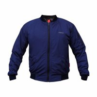 Bomber Redfox Navy / Jaket Motor Waterproof & Windproof
