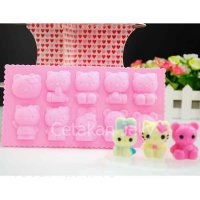 Cetakan Puding / Coklat Hello Kitty 10 cavity