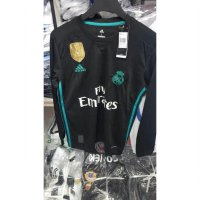 JERSEY REAL MADRID AWAY LONGSLEEVE 2017/2018 GRADE ORI OFFICIAL