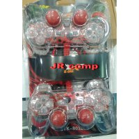 Joystik Gamepad Double Getar TRANSPARAN USB NEW