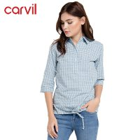 CARVIL KEMEJA/ BLOUSE LADIES AMY SP BLUE /23.AMY.0SP.G1