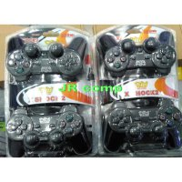 Joystik Gamepad Double Getar HITAM USB NEW