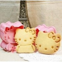 Set Cetakan Nasi / Roti / Kue Motif Hello Kitty (1 Set Isi 2)