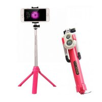 Tongsis Tripod + Tomsis Bluetooth 3 in 1 Multifungsi | Selfie Stick Android iOS