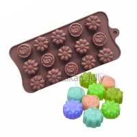 Cetakan Coklat / Puding Mini Mix Flower 15 Cav I