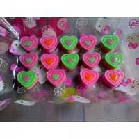 Cetakan Coklat / Puding 3 Layer Heart