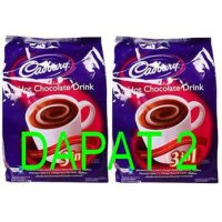 Dapat 2 bungkus Cadbury Hot Chocolate Drink dengan rasa asli Cadbury Hot Chocolate Enak