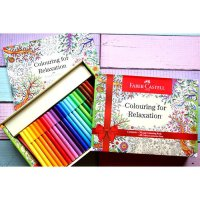 Faber Castell Colouring For Relaxation (Connector Pen & Buku Mewarnai)