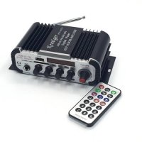 [globalbuy] With 6.5mm Mic In Port Mini Karaoke Amplifier DC 12V USB/SD MP3 Player DAC FM /4121496