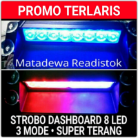PROMO TERLARIS !!! LAMPU STROBO DASHBOARD MOBIL 6 BIG LED SUPER TERANG