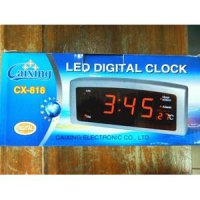 Jam Dinding Digital LED Tipe CX 818 Merah