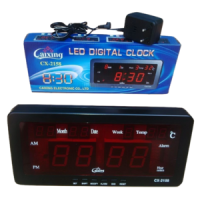 Jam Dinding Digital LED Tipe CX 2158 Biru