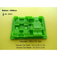 Cetakan Coklat / Puding Mini Figure 5 cavity
