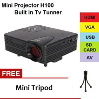 Mini LED Projector H100 Built In TV Tunner Lumens 100