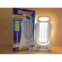 Lampu Senter LED SURYA SHL 6013+USB Emergency Lamp+Powerbank(RECHARGE)