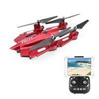 Quadcopter Drone FQ777 FQ02W WiFi FPV Foldable HD Camera With High Hold Mode 4CH 2.4G Merah
