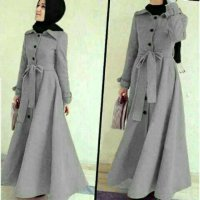 Long Coat LottonAbudhabi Gray