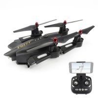 Quadcopter FQ777 FQ02W WiFi FPV Foldable HD Camera With High Hold Mode 4CH 2.4G Hitam