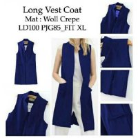 Long Vest Coat Navy