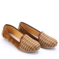 Dr.Kevin Slip Ons & Espadrilles Shoes Denim 43111 Coklat, Canvas 43111 Cream
