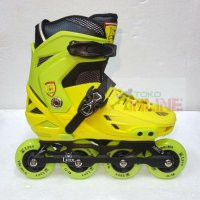 Sepatu Roda LYNX BM138 Recreational Inline Skate - Yellow Green