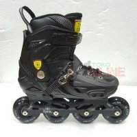 Sepatu Roda LYNX BM138 Recreational Inline Skate - Full Black