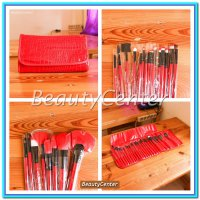 (Kuas Make Up) Kuas Set Make Up For You Merah / 24pcs / Brush Set /