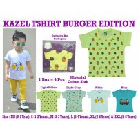 (Diskon) Kazel - TShirt Girl BURGER Edition NEWBORN