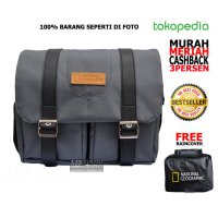 TAS KAMERA TRAVELING DSLR/MIRRORLES NATGEO LEATHER PATCH (ABU/GREY)