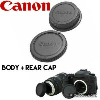 CANON BODY CAP DAN REAR CAP TUTUP BODY DAN LENSA