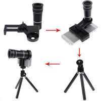 mobile phone telescope lens/plus tripod holder