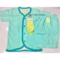 (Star Product) Velvet Junior - STRIPES Setelan Pendek Kcg Depan Large (3stel)