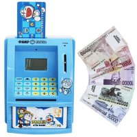 CELENGAN ATM DORAEMON WITH MONEY MAINAN EDUKASI