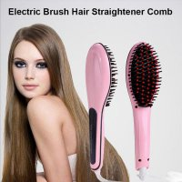 Fast Hair Straightener Magic Comb Electric Straight Hair Brush