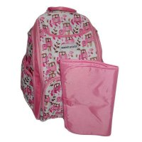 B.E.S.T Right Starts - Diaper Bag Backpack OWL PINK